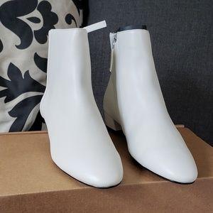 Mango for Zara white ankle boots